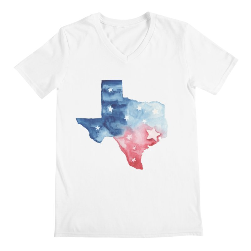 For Texas Men's V-Neck by Sam Stone's Shop