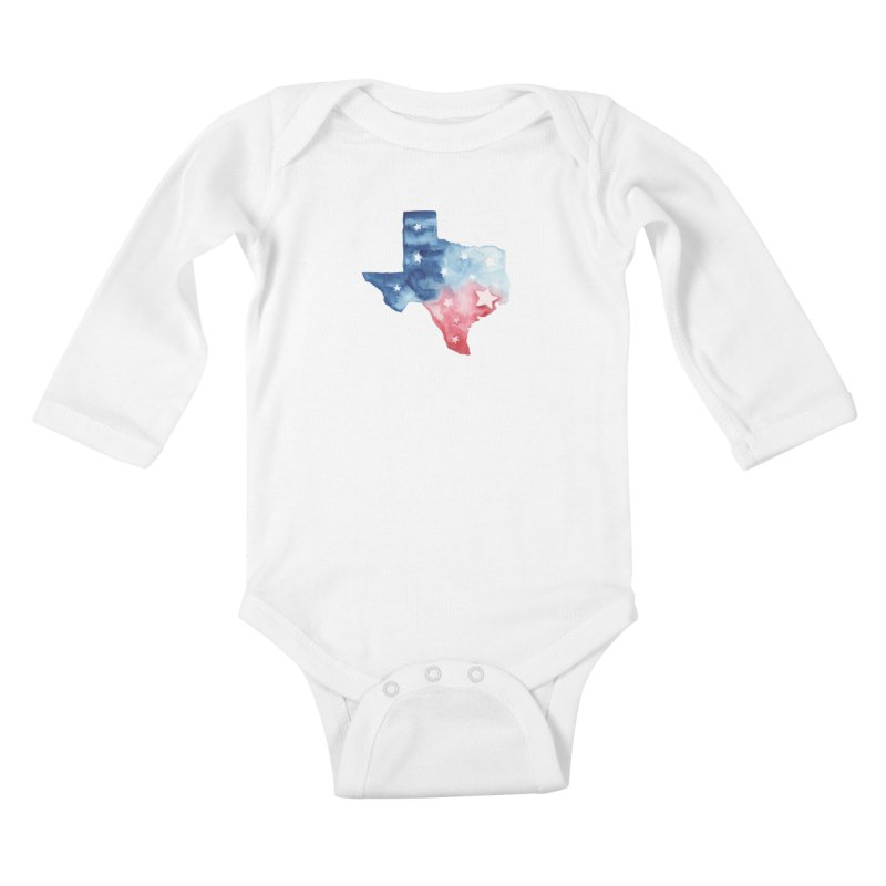 For Texas Kids Baby Longsleeve Bodysuit by Sam Stone's Shop
