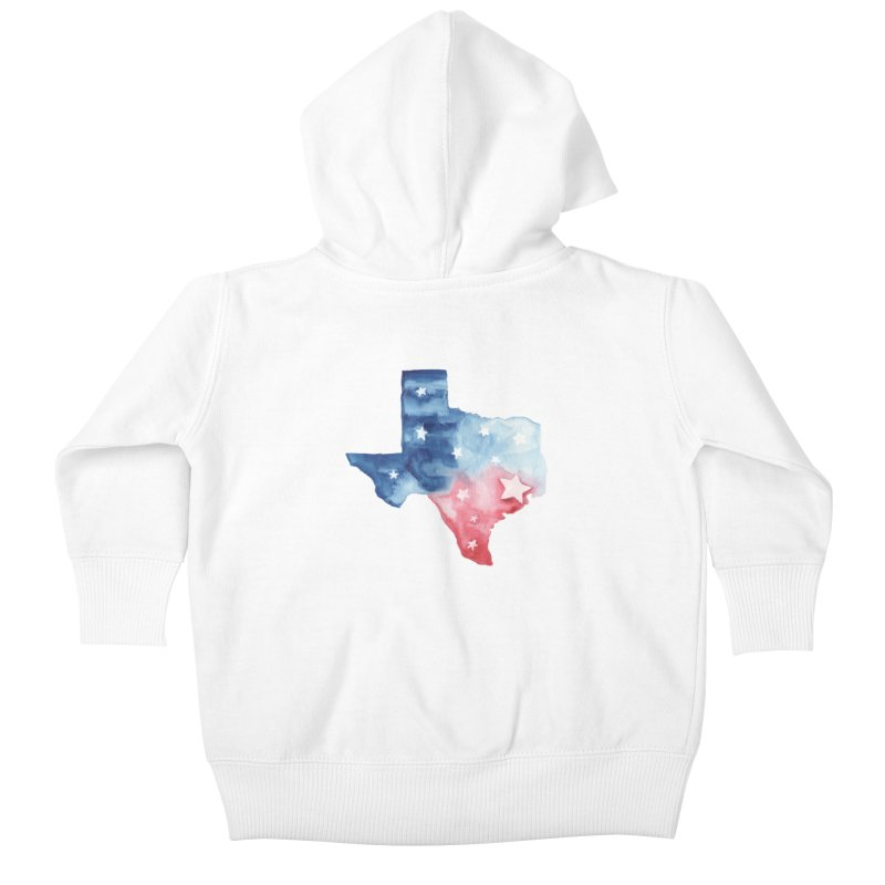 For Texas Kids Baby Zip-Up Hoody by Sam Stone's Shop