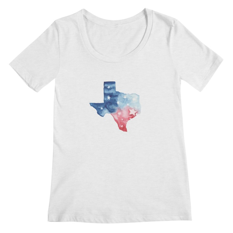 For Texas Women's Regular Scoop Neck by Sam Stone's Shop