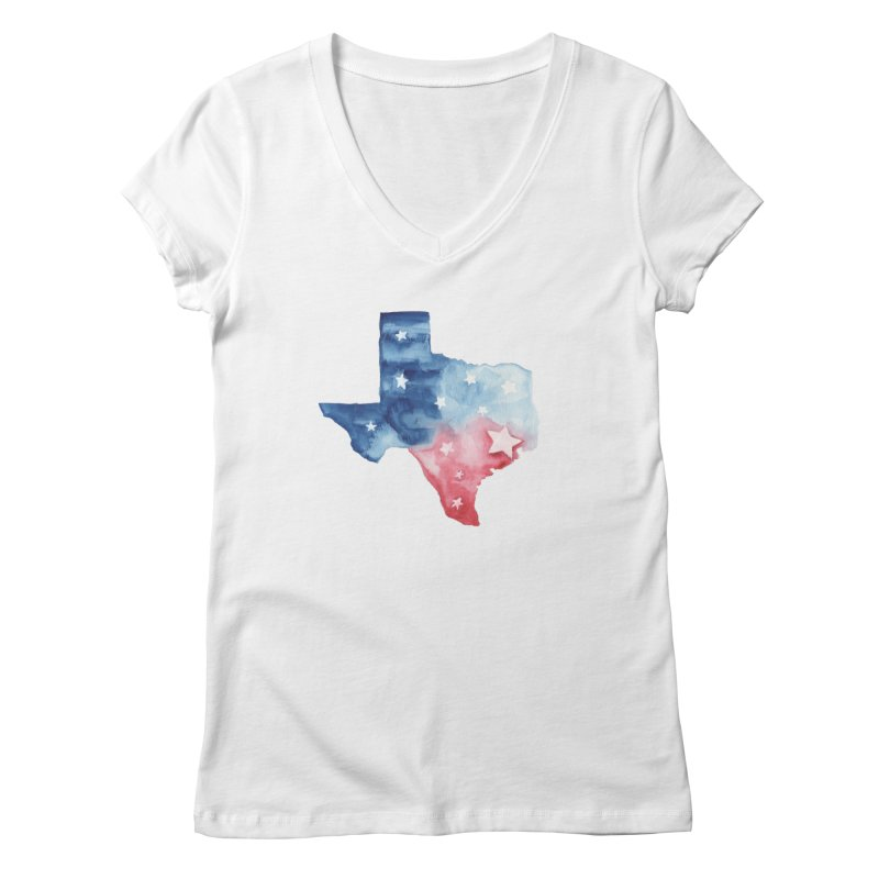 For Texas Women's Regular V-Neck by Sam Stone's Shop