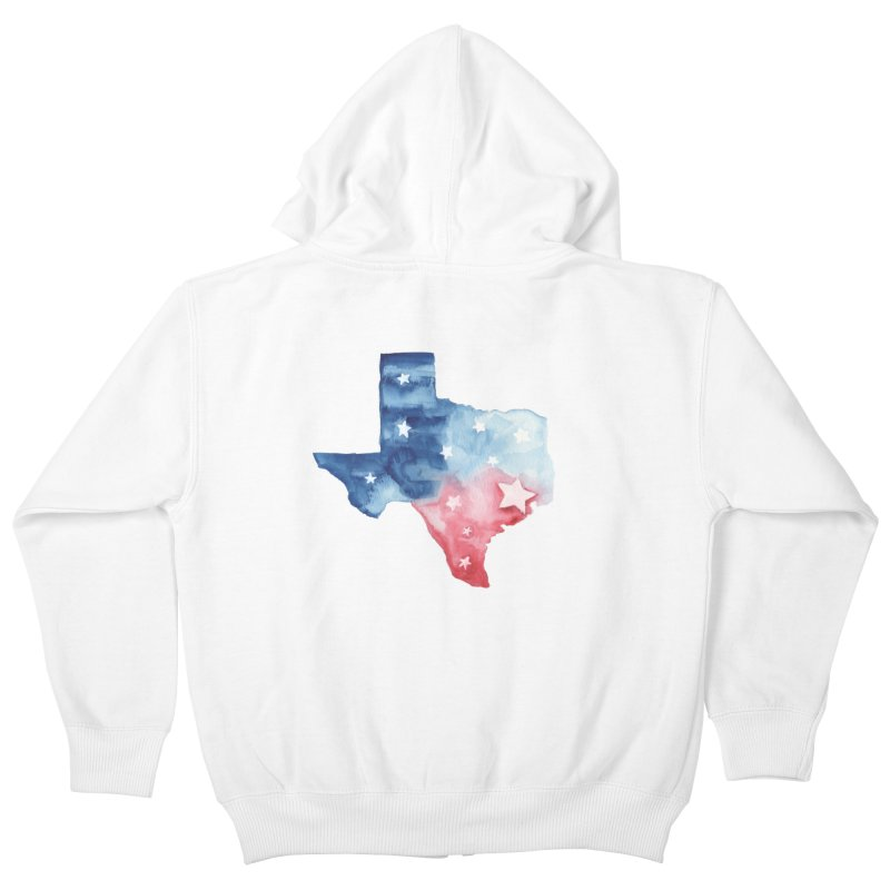 For Texas Kids Zip-Up Hoody by Sam Stone's Shop