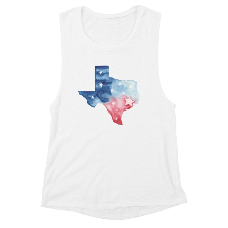 For Texas Women's Muscle Tank by Sam Stone's Shop