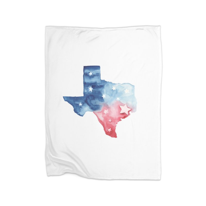 For Texas Home Fleece Blanket Blanket by Sam Stone's Shop