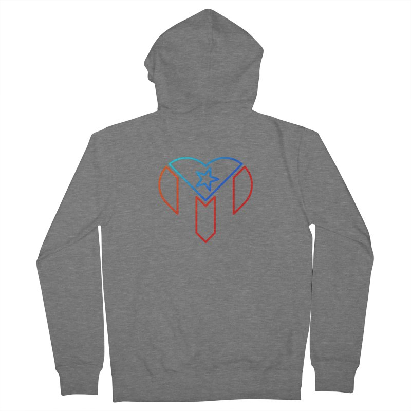 For Puerto Rico Men's Zip-Up Hoody by Sam Stone's Shop