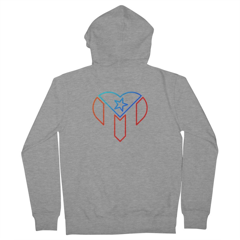 For Puerto Rico Men's French Terry Zip-Up Hoody by Sam Stone's Shop