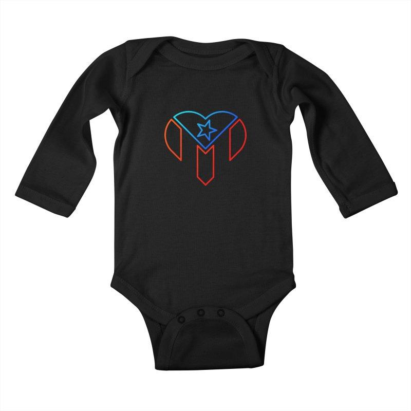 For Puerto Rico Kids Baby Longsleeve Bodysuit by Sam Stone's Shop