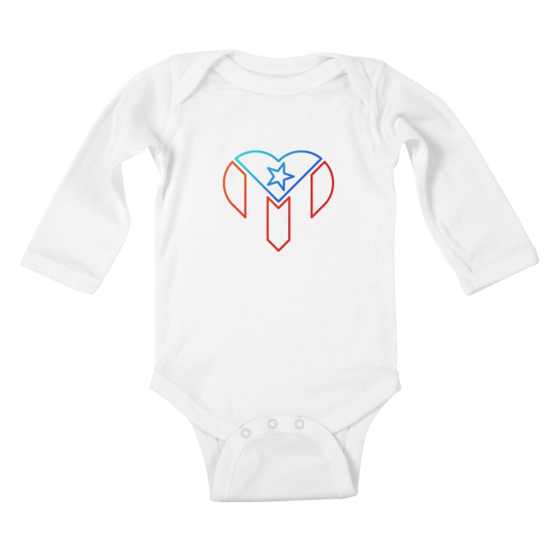 For Puerto Rico Kids Baby Longsleeve Bodysuit by Sam Stone's Shop