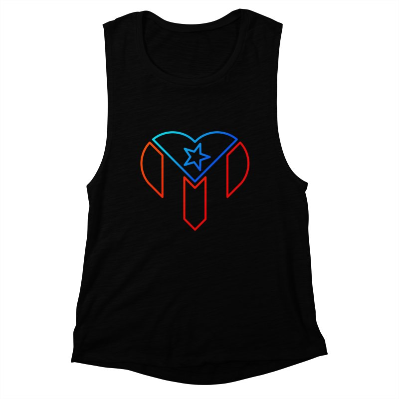 For Puerto Rico Women's Muscle Tank by Sam Stone's Shop
