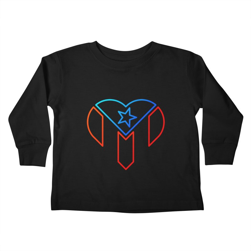 For Puerto Rico Kids Toddler Longsleeve T-Shirt by Sam Stone's Shop