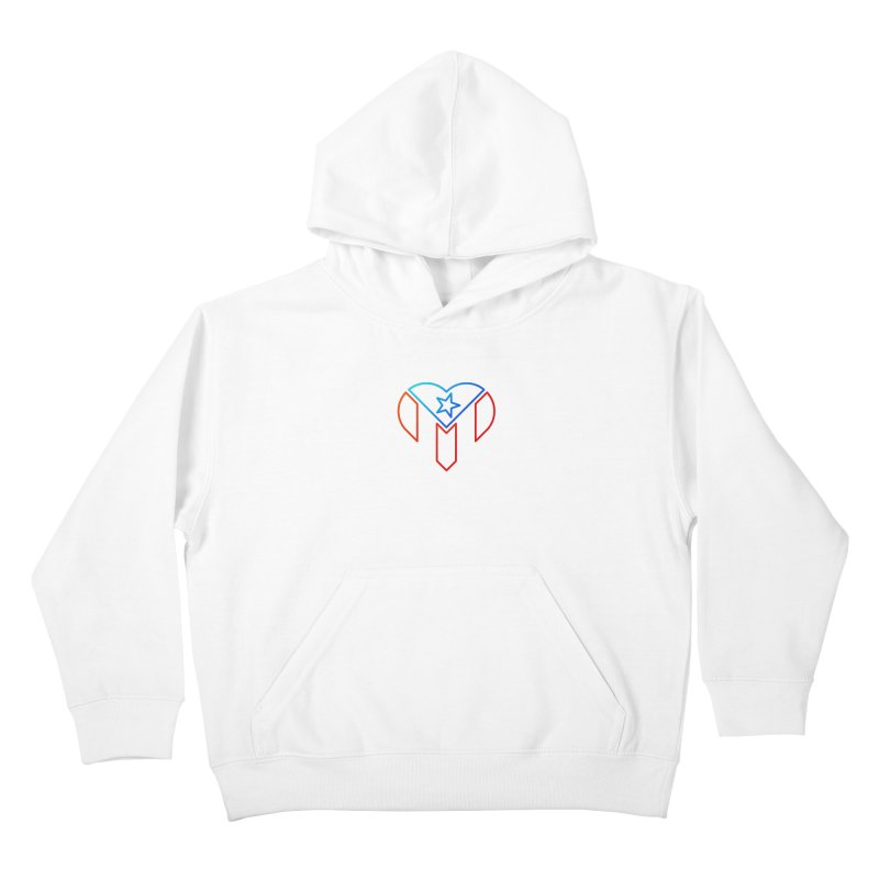 For Puerto Rico Kids Pullover Hoody by Sam Stone's Shop