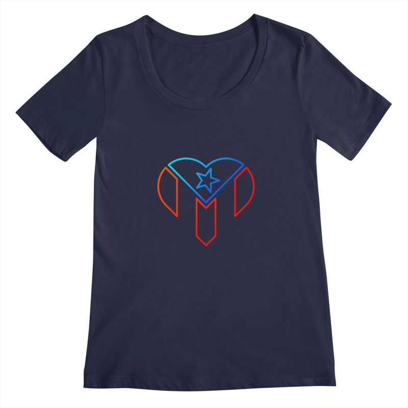 For Puerto Rico Women's Scoopneck by Sam Stone's Shop