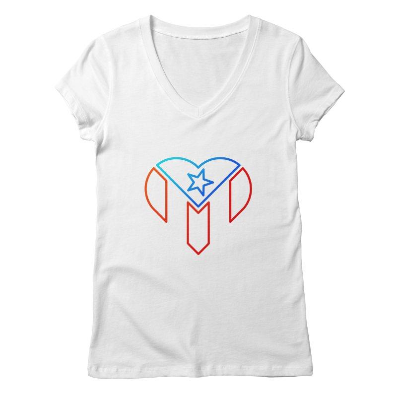 For Puerto Rico Women's Regular V-Neck by Sam Stone's Shop