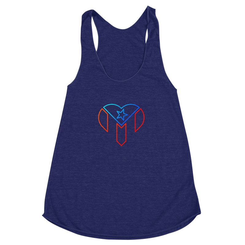 For Puerto Rico Women's Racerback Triblend Tank by Sam Stone's Shop