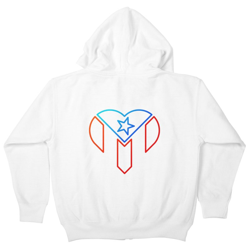 For Puerto Rico Kids Zip-Up Hoody by Sam Stone's Shop