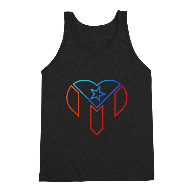 For Puerto Rico Men's Triblend Tank by Sam Stone's Shop