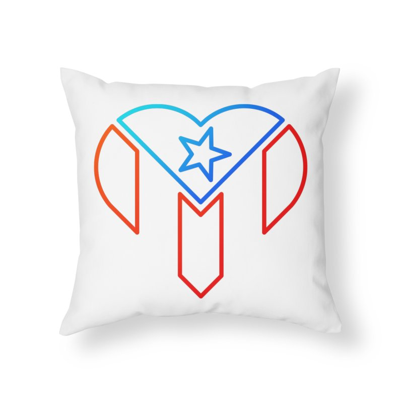 For Puerto Rico Home Throw Pillow by Sam Stone's Shop