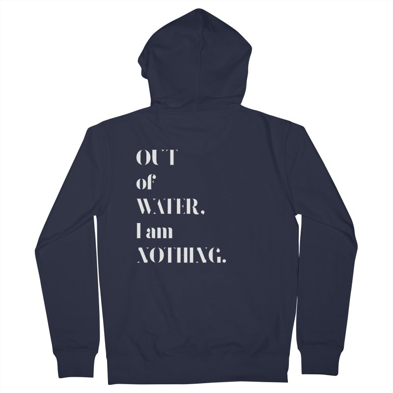 Out of Water Men's Zip-Up Hoody by Sam Stone's Shop