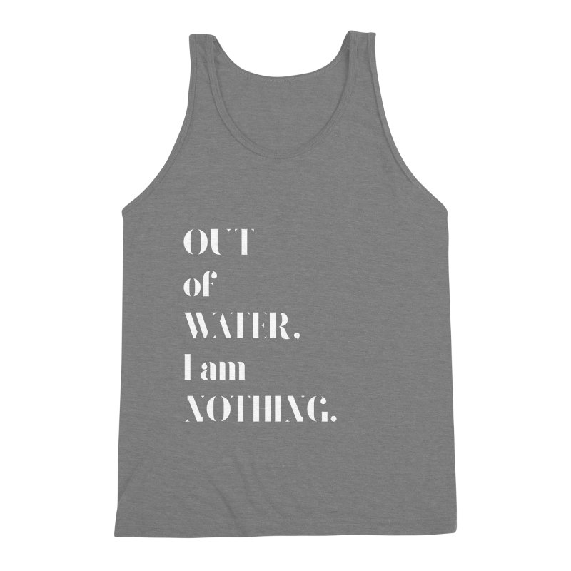 Out of Water Men's Triblend Tank by Sam Stone's Shop