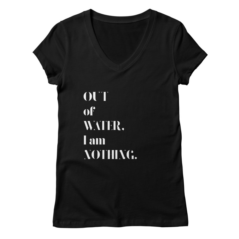 Out of Water Women's V-Neck by Sam Stone's Shop