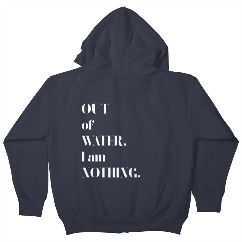 Out of Water Kids Zip-Up Hoody by Sam Stone's Shop