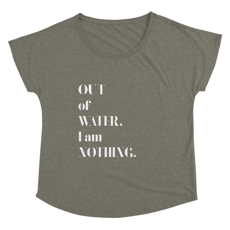 Out of Water Women's Scoop Neck by Sam Stone's Shop