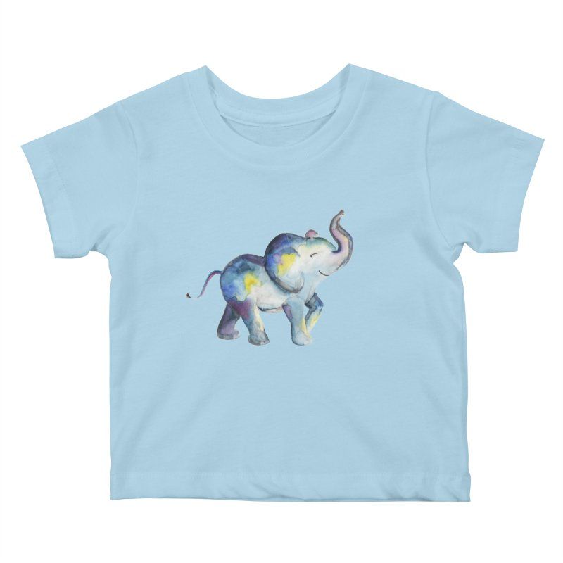 bebé elefante Kids Baby T-Shirt by Sam Stone's Shop