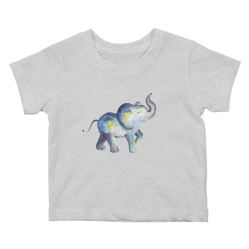 bebé elefante Kids Baby T-Shirt by Sam Stone's Shop