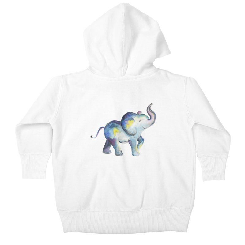 bebé elefante Kids Baby Zip-Up Hoody by Sam Stone's Shop