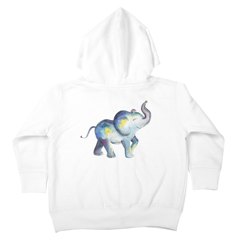 bebé elefante Kids Toddler Zip-Up Hoody by Sam Stone's Shop