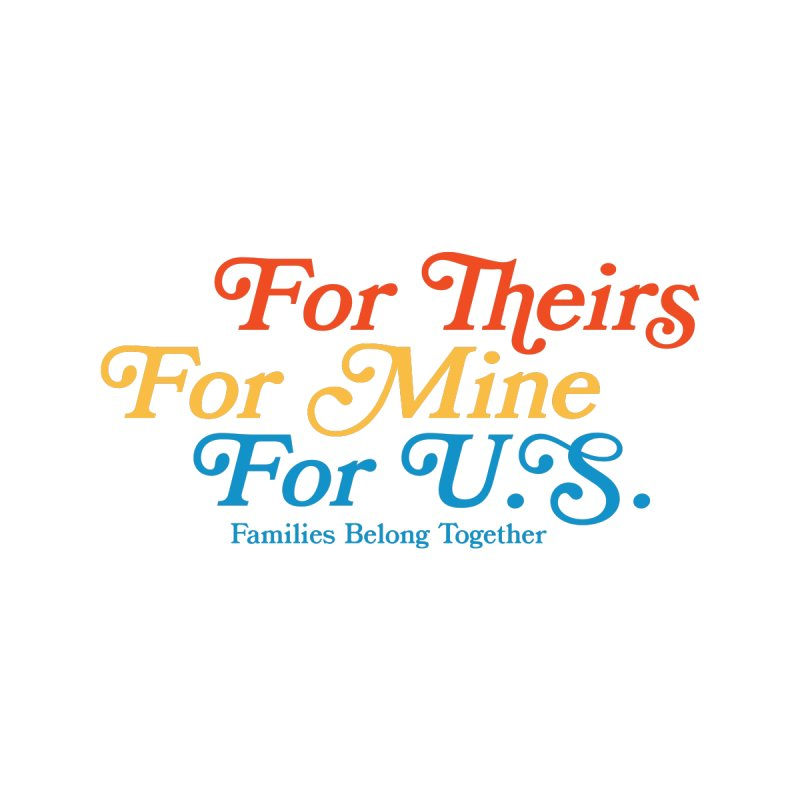 For Theirs. For Mine. For U.S. Kids T-Shirt by Sam Stone's Shop