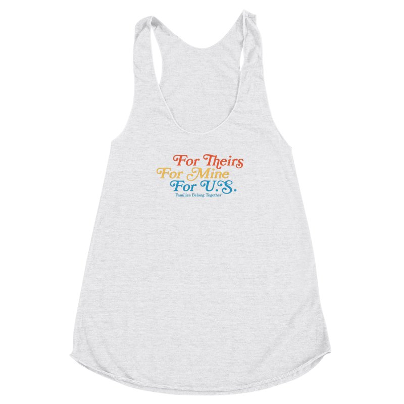 For Theirs. For Mine. For U.S. Women's Racerback Triblend Tank by Sam Stone's Shop
