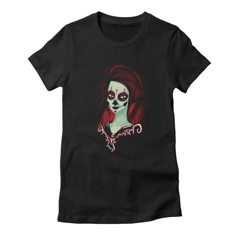 Death Girl Women's Fitted T-Shirt by samuelrd's Shop