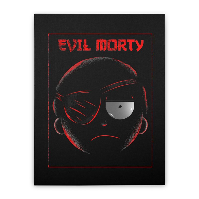 Evil Morty Home Stretched Canvas by samuelrd's Shop