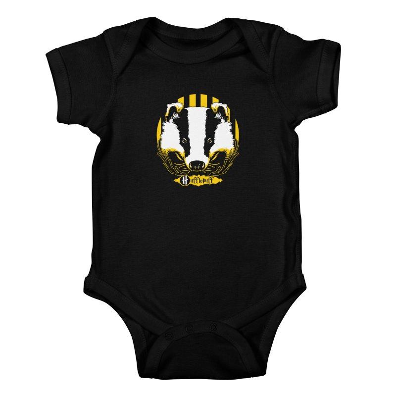 Hufflepuff Kids Baby Bodysuit by samuelrd's Shop