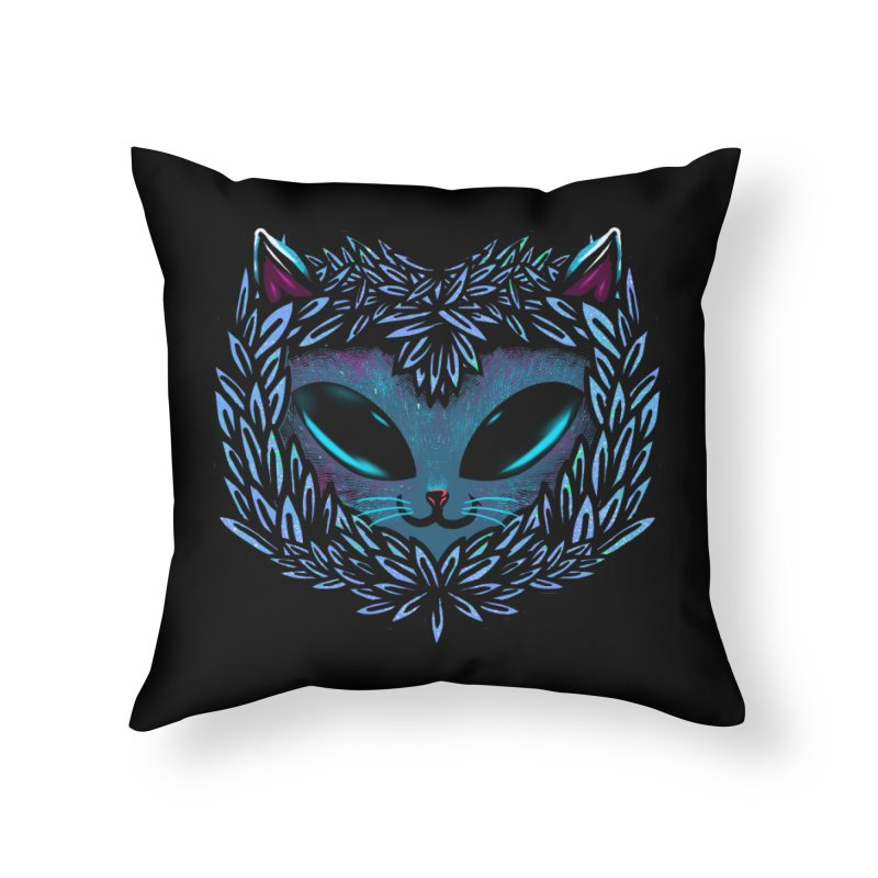 AlienCat Home Throw Pillow by samuelrd's Shop