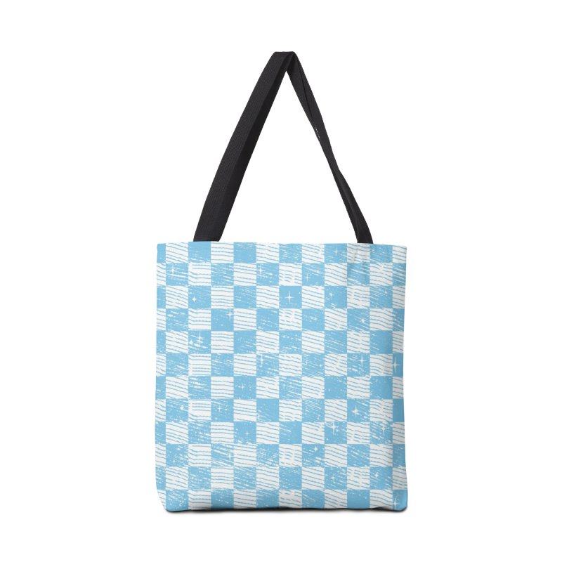 Chess Blue Pattern Accessories Bag by samuelrd's Shop