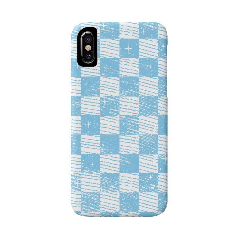 Chess Blue Pattern Accessories Phone Case by samuelrd's Shop