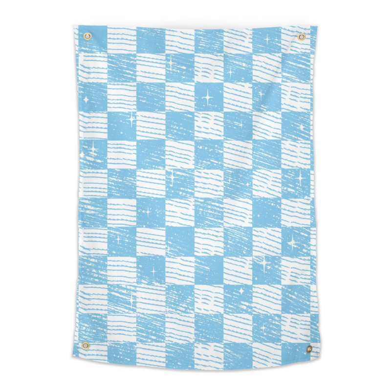 Chess Blue Pattern Home Tapestry by samuelrd's Shop