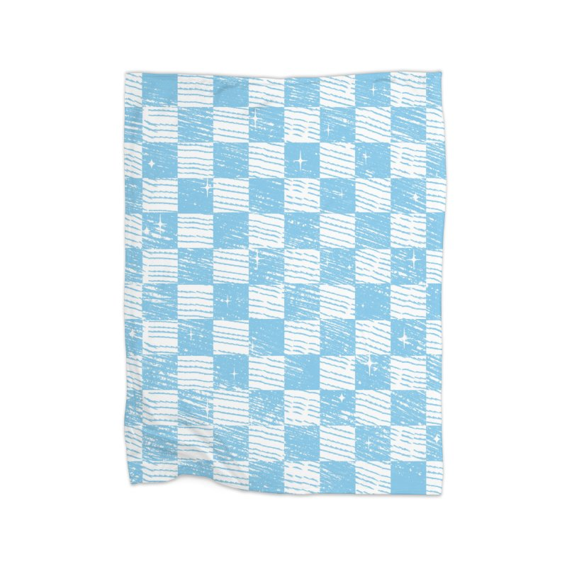Chess Blue Pattern Home Blanket by samuelrd's Shop