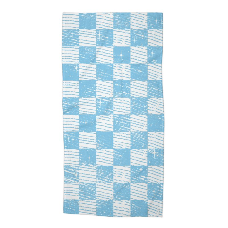 Chess Blue Pattern Accessories Beach Towel by samuelrd's Shop