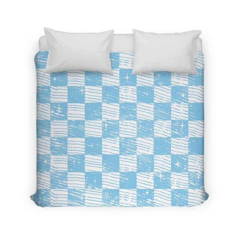 Chess Blue Pattern Home Duvet by samuelrd's Shop