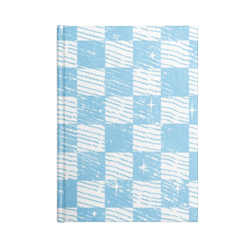Chess Blue Pattern Accessories Notebook by samuelrd's Shop