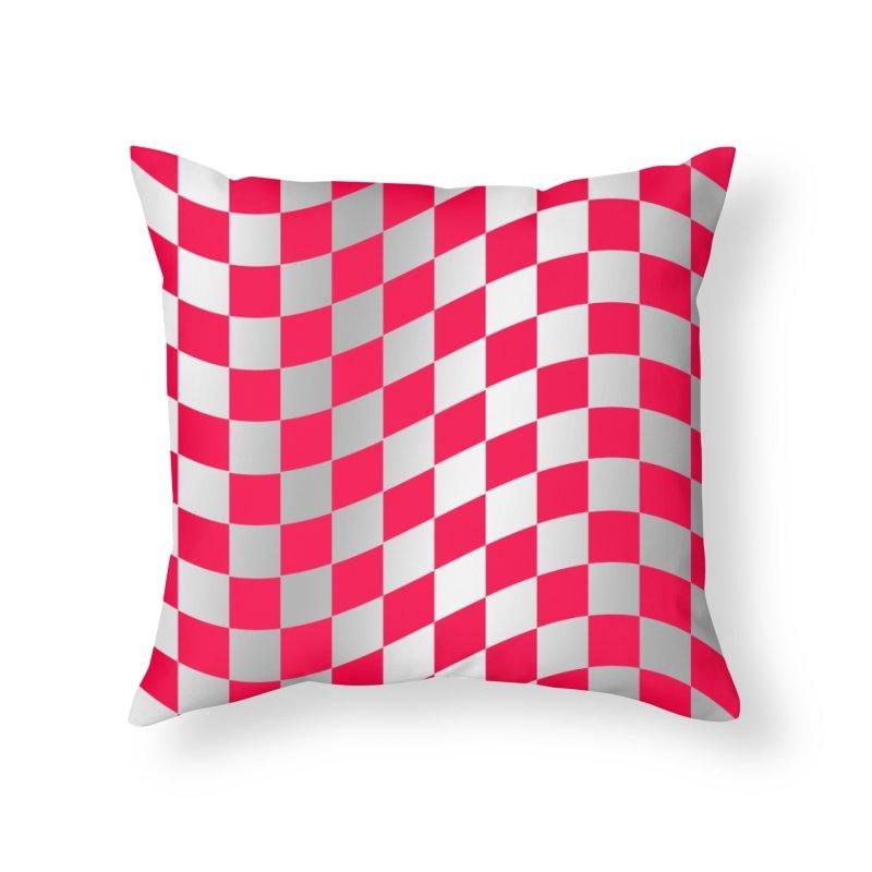 Random Pink Chess Home Throw Pillow by samuelrd's Shop