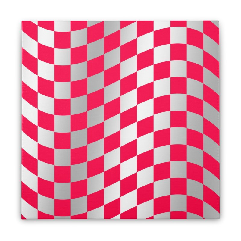 Random Pink Chess Home Stretched Canvas by samuelrd's Shop