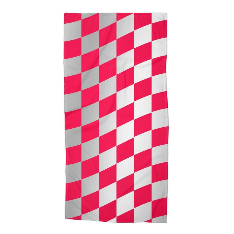 Random Pink Chess Accessories Beach Towel by samuelrd's Shop