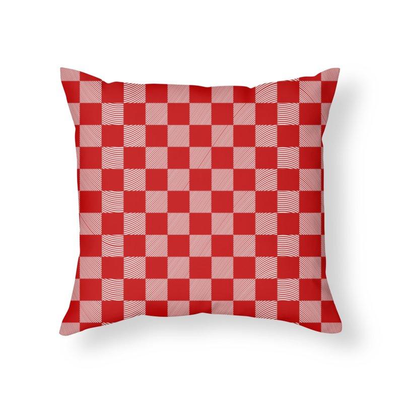Random Red Chess Home Throw Pillow by samuelrd's Shop