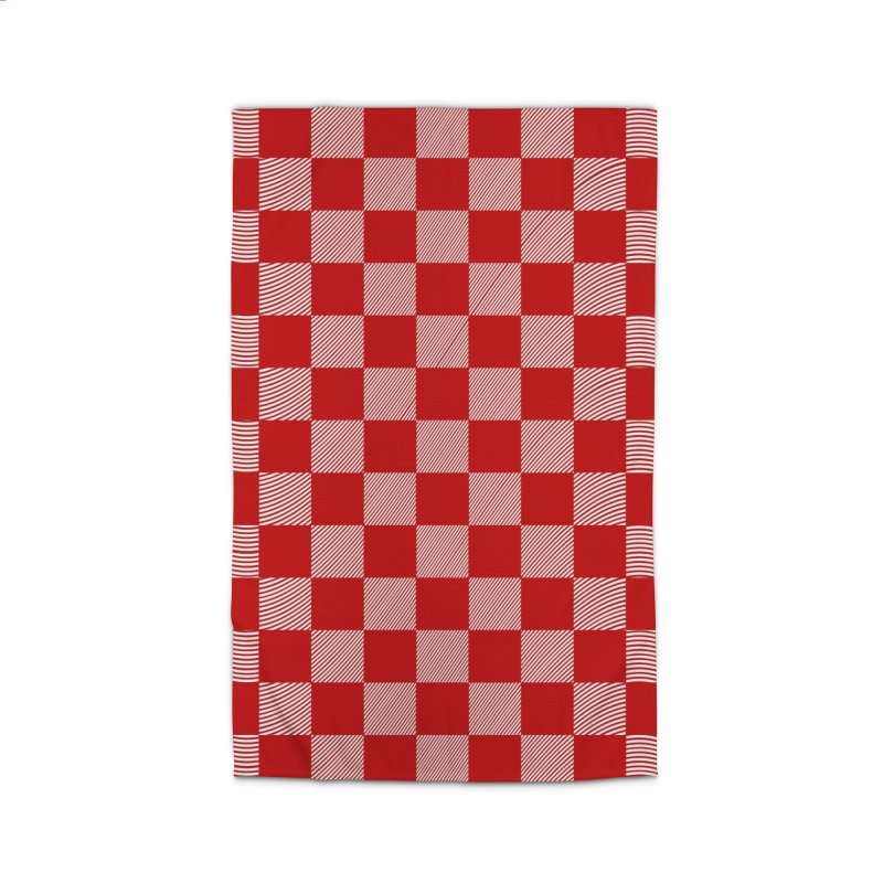 Random Red Chess Home Rug by samuelrd's Shop