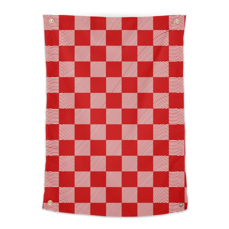 Random Red Chess Home Tapestry by samuelrd's Shop