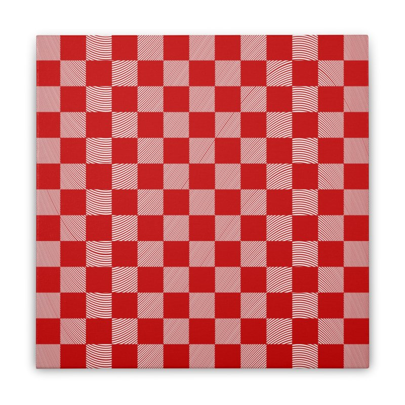 Random Red Chess Home Stretched Canvas by samuelrd's Shop